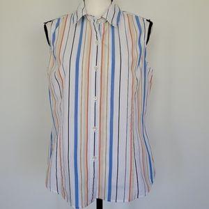Evan Pioneer sleeveless striped blouse 12